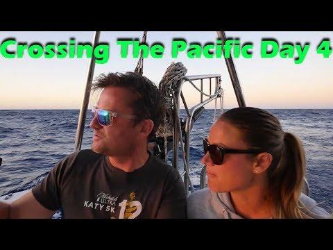 Pacific Ocean Crossing - Day 4 - Fresh Mahi - Sailing doodles