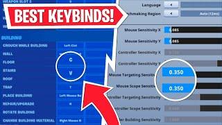 BEST PC KEYBINDS + SETTINGS for Fortnite Chapter 2!