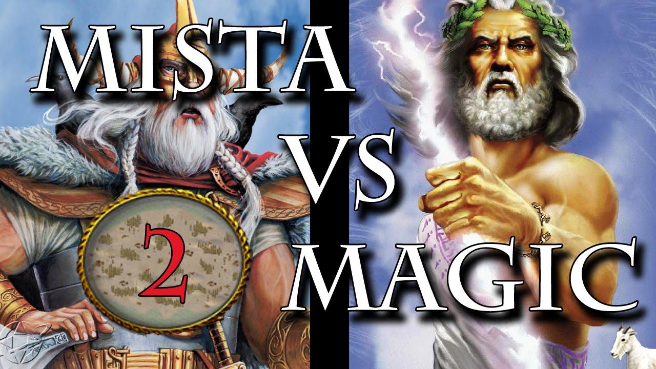 Age of Mythology theMista(Odin) vs IamMagic(Zeus) FROZEN WASTES!