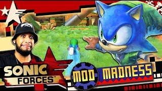 Sonic Forces (PC 4K 60FPS) Lost Valley HARD MODE w/Link Sonic - Mod Madness