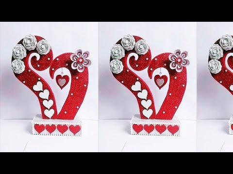 DIY Paper Heart Showpiece || DIY-Gifts Ideas - 2019 || How to Make Paper Heart Showpiece