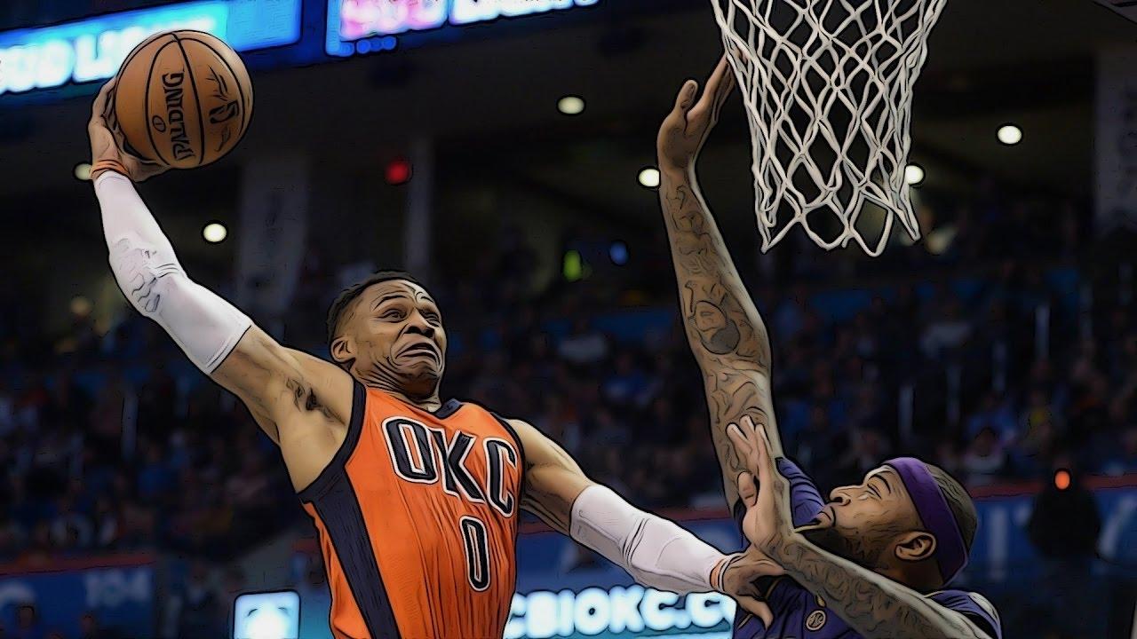 Download NBA : Le dunk monstreux de Russell Westbrook sur Demarcus Cousins
