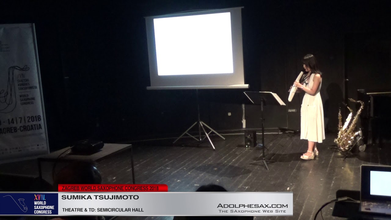 Sumika Tsujimoto   XVIII World Sax Congress 2018 #adolphesax