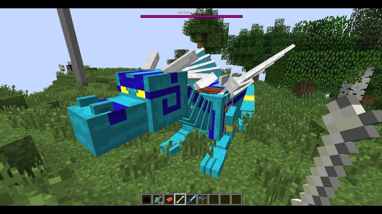minecraft mod dragon mount 1.5.2 - YouTube
