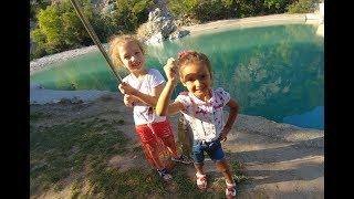 Elif ve Melisa balık avlıyor .. Becerebildik mi ?
