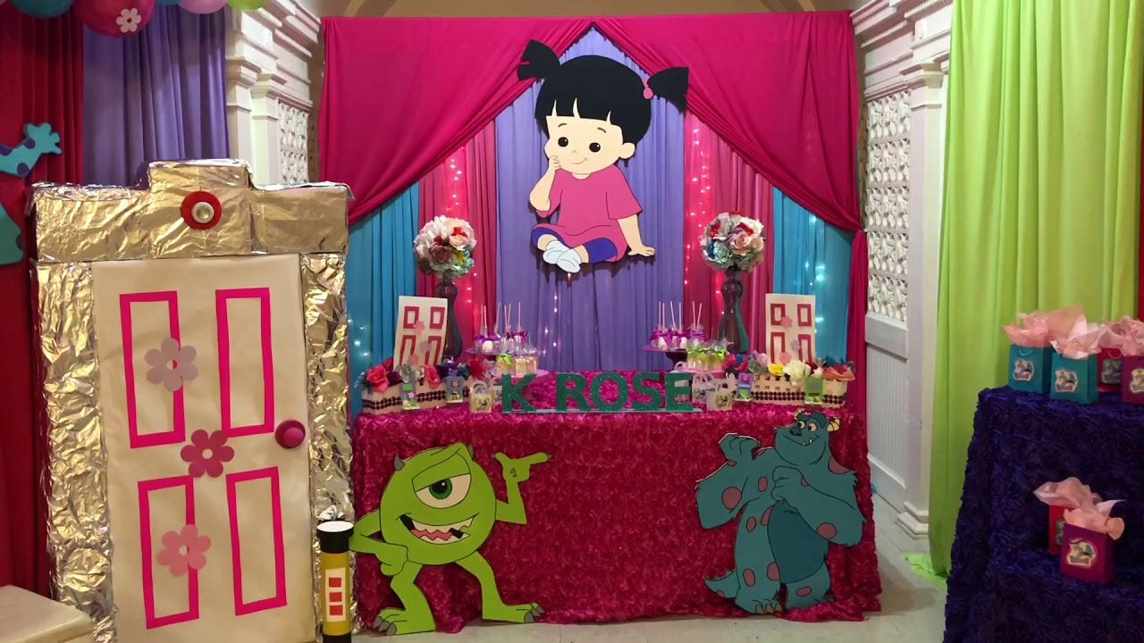 Monster Inc Birthday Party Decorations Youtube