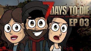 ENCONTRAMOS UN RIFLE EN UNA CAJA FUERTE !!   7 Days to Die Coop #3