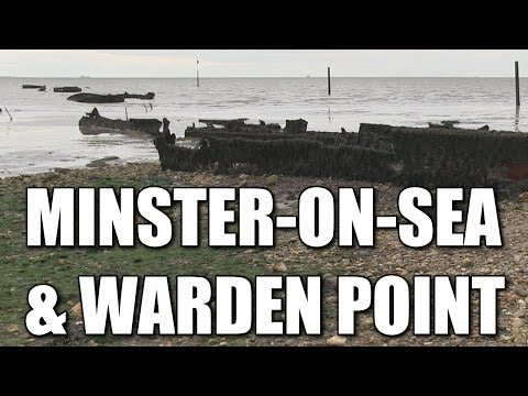 The Leas at Minster & Warden Point, Isle of Sheppey sea fishing marks, Kent, England