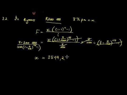 Past Papers SACAI November Exam 2015 Mathematics Paper I Question 3