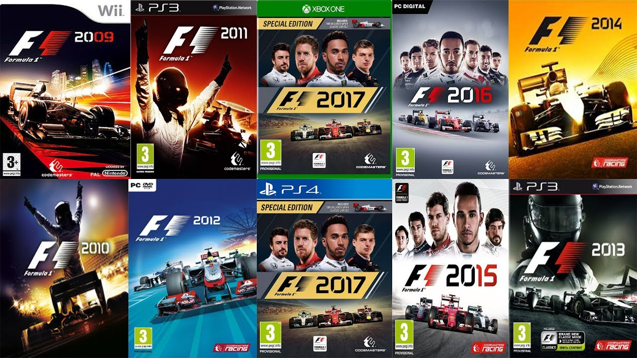 f1 2009 f1 2017 every codemasters f1 trailer updated. Black Bedroom Furniture Sets. Home Design Ideas