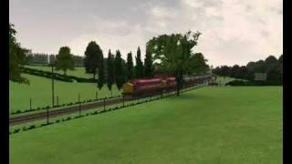 EWS 37405 and 37422 on Microsoft Train Simulator
