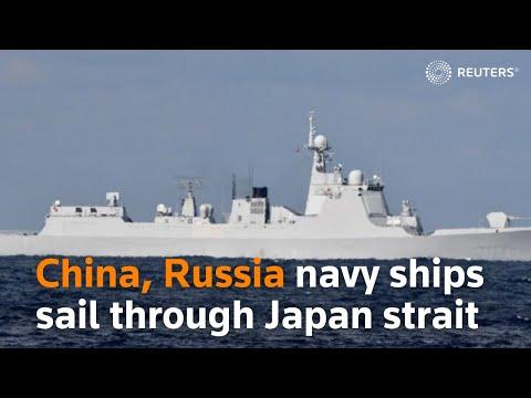 China, Russia navy ships sail through Japan strait