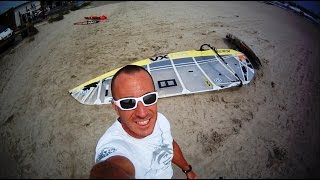 CAMERA EMBARQUEE   M  PLAY WINDSURF  /   match    NEW  sails 2014   VS   Old VX ltd 5.1    NEILPRYDE