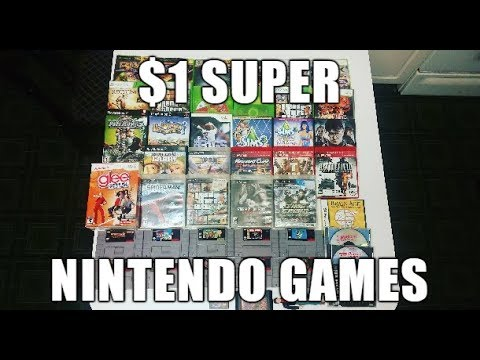 Live Video Game Hunting Ep. 16 - $1 Super Nintendo Games!!