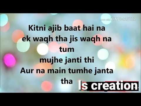 Kitni Ajeeb Baat Hai Na    Heart Touching Voice Story    For Couple    Romantic Version