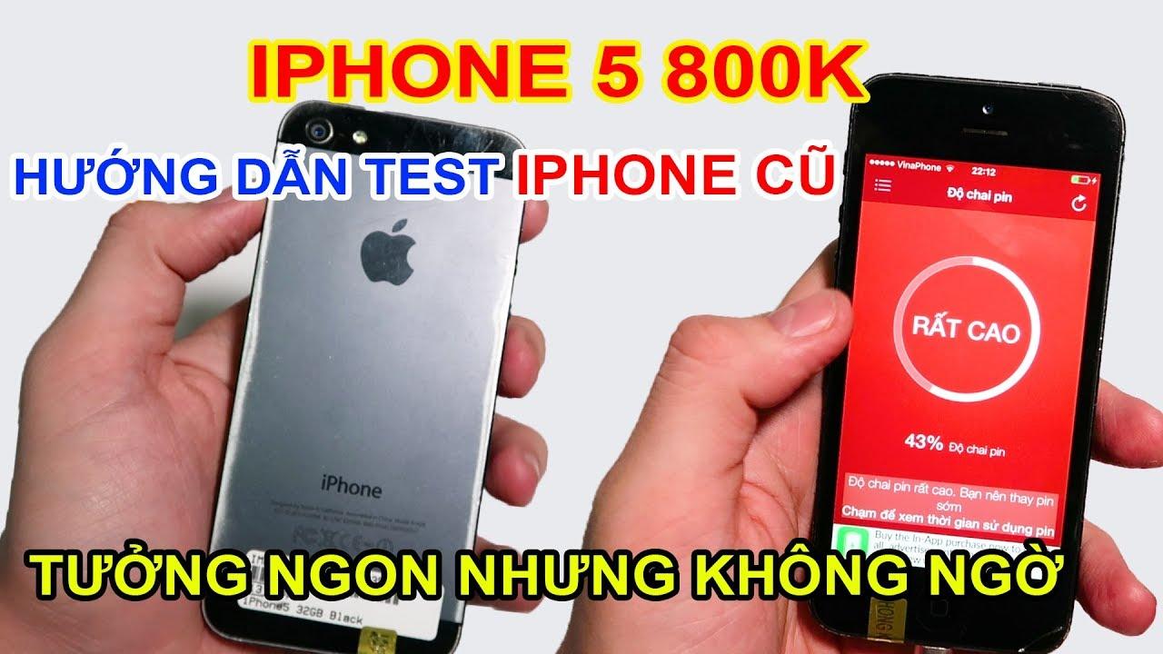 Mở hộp Iphone 5 giá 800k đặt trên LAZADA, SHOPEE. Hướng dẫn TEST iphone cũ | MUA HÀNG ONLINE