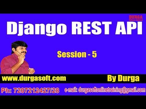 Django tutorials || Django REST API Session - 5 by Durga Sir