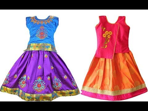 363b8f3a50ef4 Traditional Kids Silk Skirt   Tops Collection