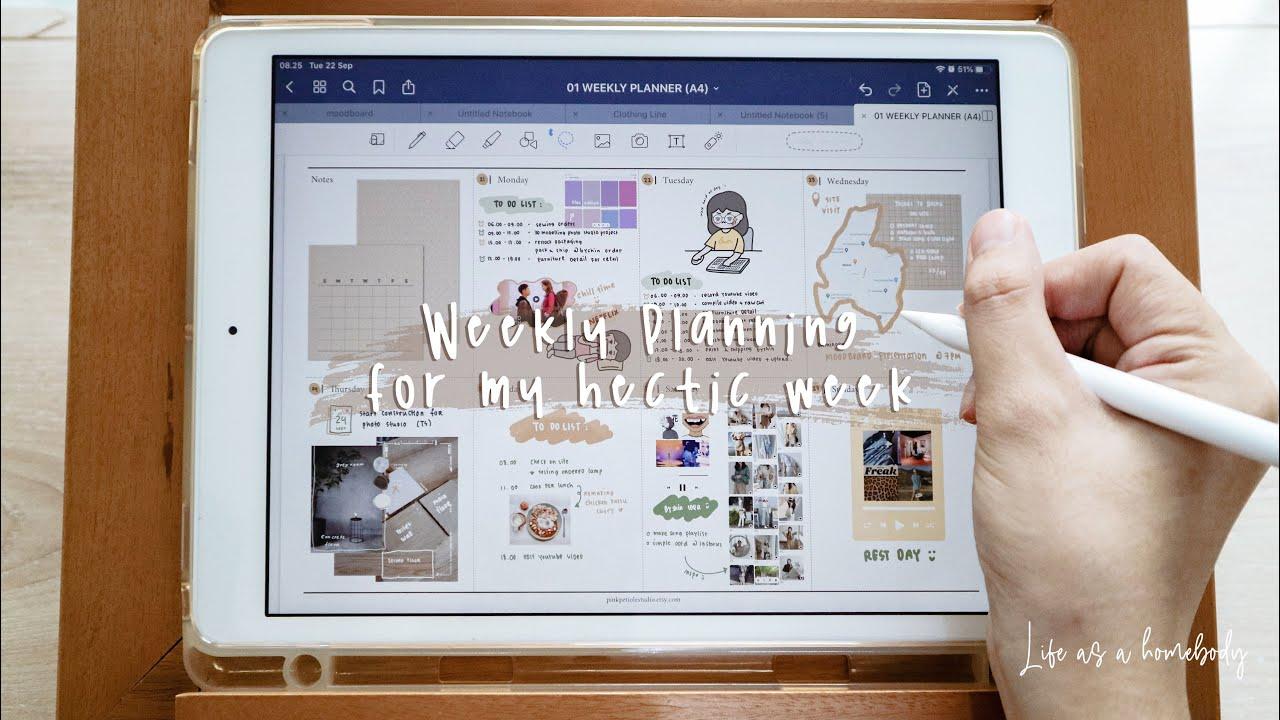 Digital Weekly Planner, Planning My Hectic Week | Journaling Vlog