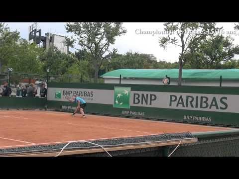Championnat de France 15/16 ans 2015: le TCBB à Roland Garros.