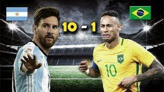 ARGENTINA vs BRASIL 10-1 المباراة المجنونة بين الارجنتين والبرازيل