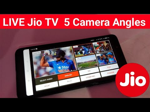 Jio TV LIVE Cricket match With 5 Camera Angles