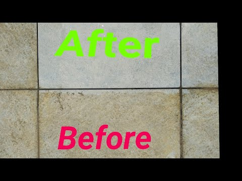 How to clean tiles floor at home.