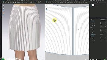 (CLO) (클로) 초급09_아코디언플리츠스커트_2_시뮬레이션&원단물성. CLO Basic 09_ Accordion pleated skirt