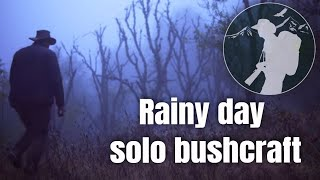 Camping in the rain - tarp, fire making, cooking