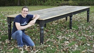 16 Foot 6 Legged Farm Table - Can he build it?!