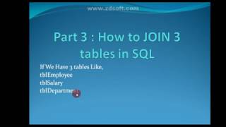 Join More than 2 table In SQL