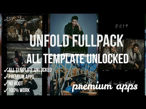 UNFOLD FULLPACK ALL TEMPLATE UNLOCKED | UNFOLD — CREATE STORIES FULLPACK