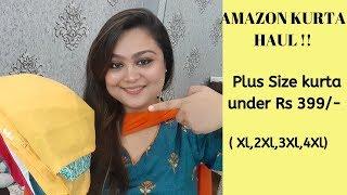 AMAZON PLUS SIZE KURTA TRYON HAUL UNDER Rs 399 - FESTIVE SPECIAL
