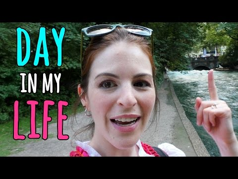 A Day In My YouTube Life - talking to a camera in Munich