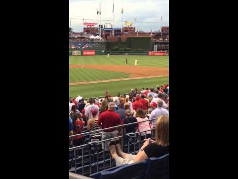 Squirrel Makes Defying Leap Into Phillies Dugout