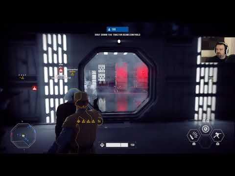 Star Wars Battlefront II Launch MP pt1 - 1st Galactic Assault: Death Star 2!