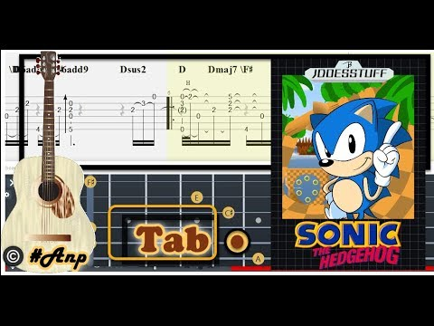 Guitar Tab Special Stage Sonic The Hedgehog Ost Fingerstyle Tutorial Sheet Lesson Anp Youtube