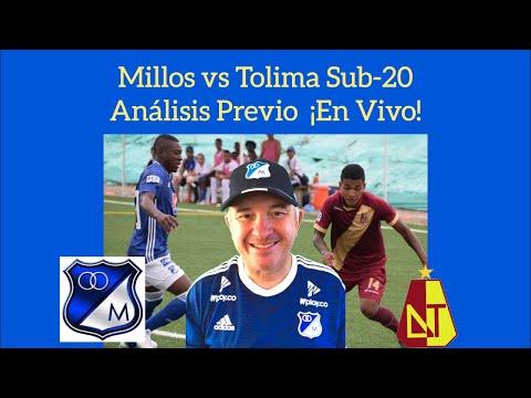Millos vs Tolima - Sub 20 - Análisis Previo ¡En Vivo