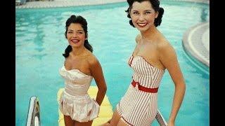 Модные купальники 45 - 50 годов. Таких купальников вы уже не встретите