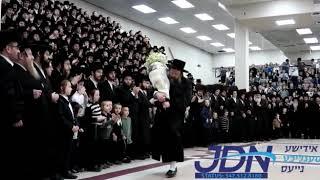 Bobov 45 Rebbe dancing with sefer Torah