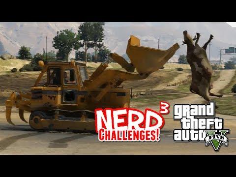 Nerd³ Challenges! Doze-y Cow! - GTA V