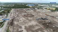 Dania Pointe Construction Site by Drone in  Dania Beach
