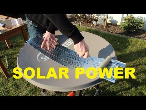 FREE SOLAR POWER how to PARABOLIC MIRROR - REFLECTOR