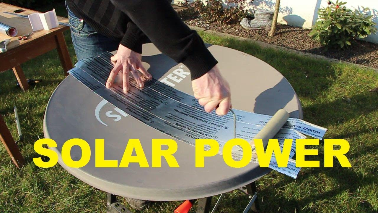 Free Solar Power How To Parabolic Mirror Reflector Youtube