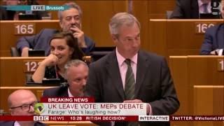 """Nigel Farage zu EU-Abgeordneten: """"Praktisch keiner von Ihnen hat je richtig gearbeitet"""""""