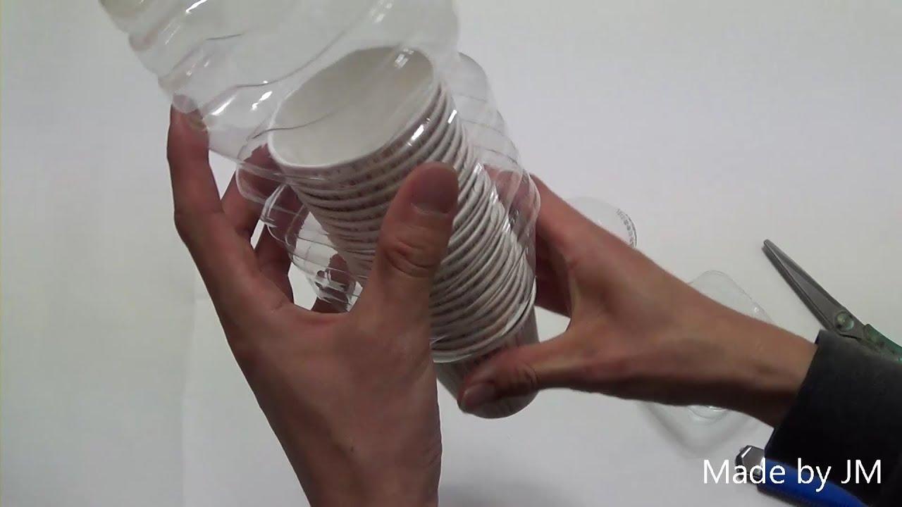 DIY paper cup dispenser  YouTube