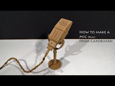 How to make a Microphone from Cardboard that Works