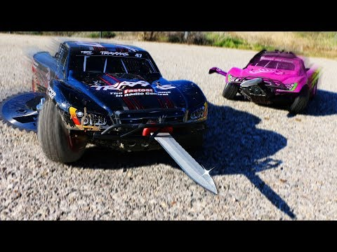 We Built Weapons on RC Cars & Battled in a DEMOLITION DERBY!!