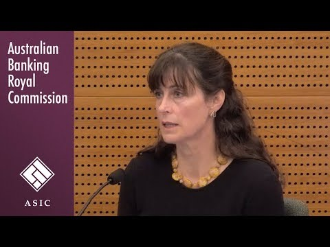 ASIC's senior executive responsible for financial advisers testifies at the Banking Royal Commission