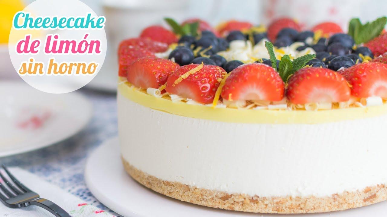 Cheesecake O Pay De Limón Postre Sin Horno Quiero Cupcakes Youtube